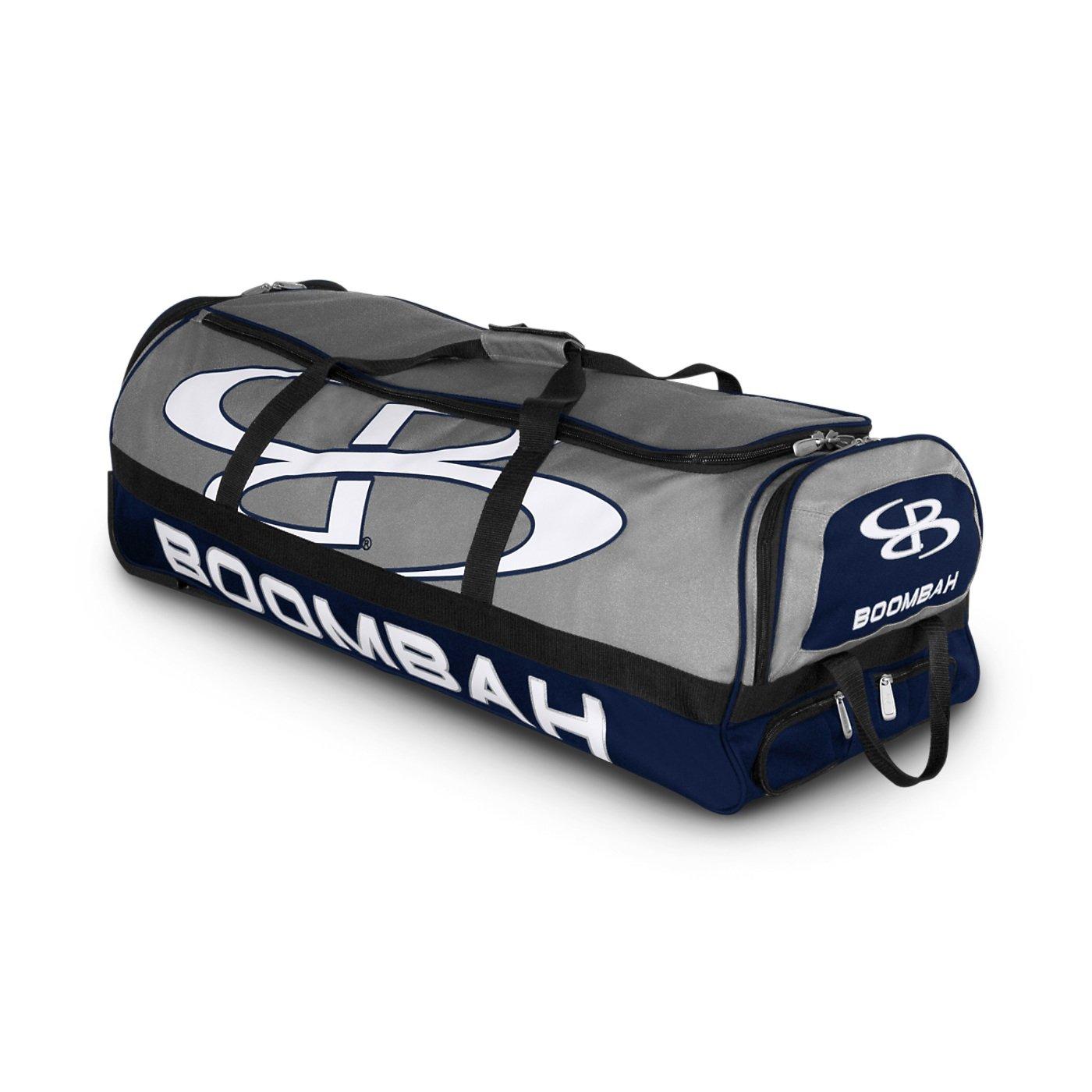 (ブームバー) Boombah Bruteシリーズ キャスター付きバットケース 野球ソフトボール用 35×15×12–1/2インチ 49色展開 4本のバットと用具を収納可能 B01NBE9RU1 グレー/ネイビー グレー/ネイビー