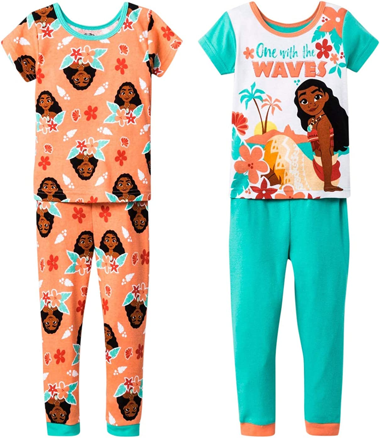Disney Moana Pyjamas I Disney Girls Moana PJs I Moana Pyjama Set