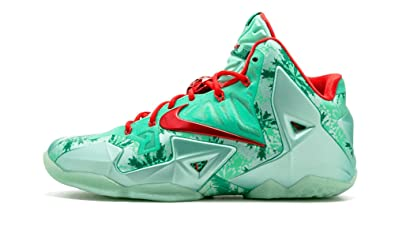 low priced ba409 deb6b Nike Men s Lebron XI, Christmas-GREEN GLOW LIGHT CRIMSON-ARCTC GREEN,