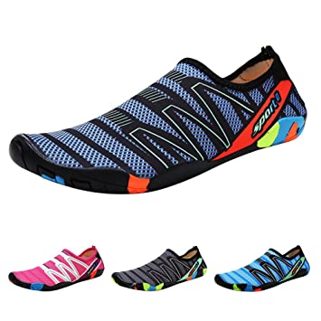 7488b5dd2 Qimaoo Zapatos de Agua Escarpines Zapatillas Calzado de Playa Descalzo  Barefoot Agua Respirable Calcetines para La