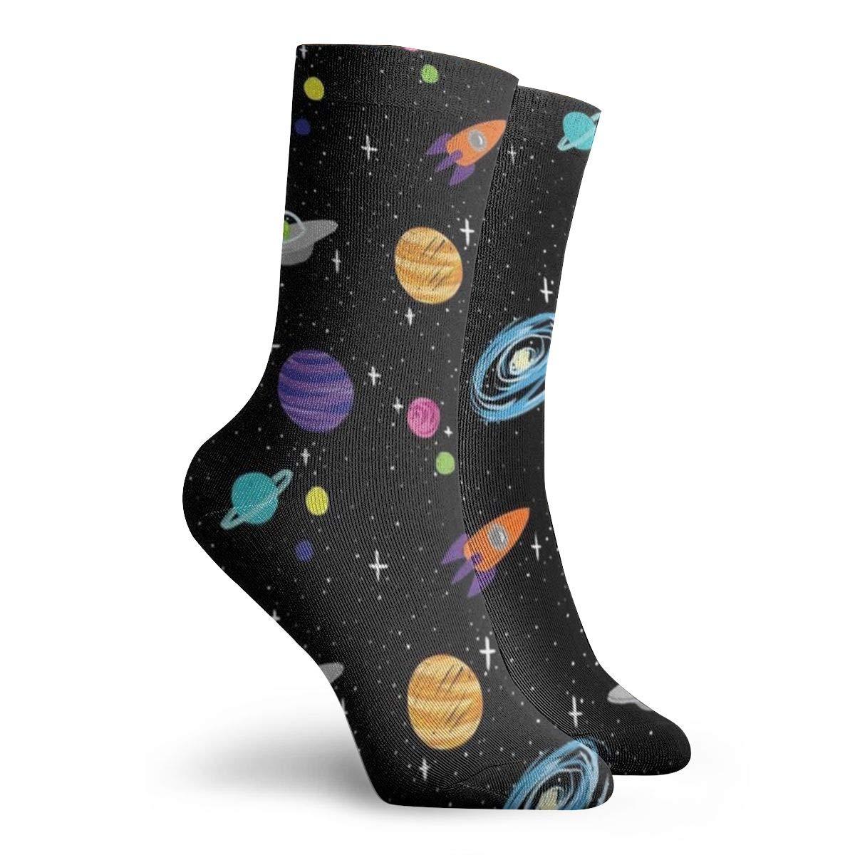 Planet Unisex Funny Casual Crew Socks Athletic Socks For Boys Girls Kids Teenagers