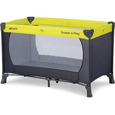 Hauck Dream N Play - Cuna de viaje 3 piezas 120 x 60cm, bebe, incluido colchóncito y bolsa de transporte, de 0+ meses hasta 15 kg, plegado y montaje fácil, ligera y estable, verde