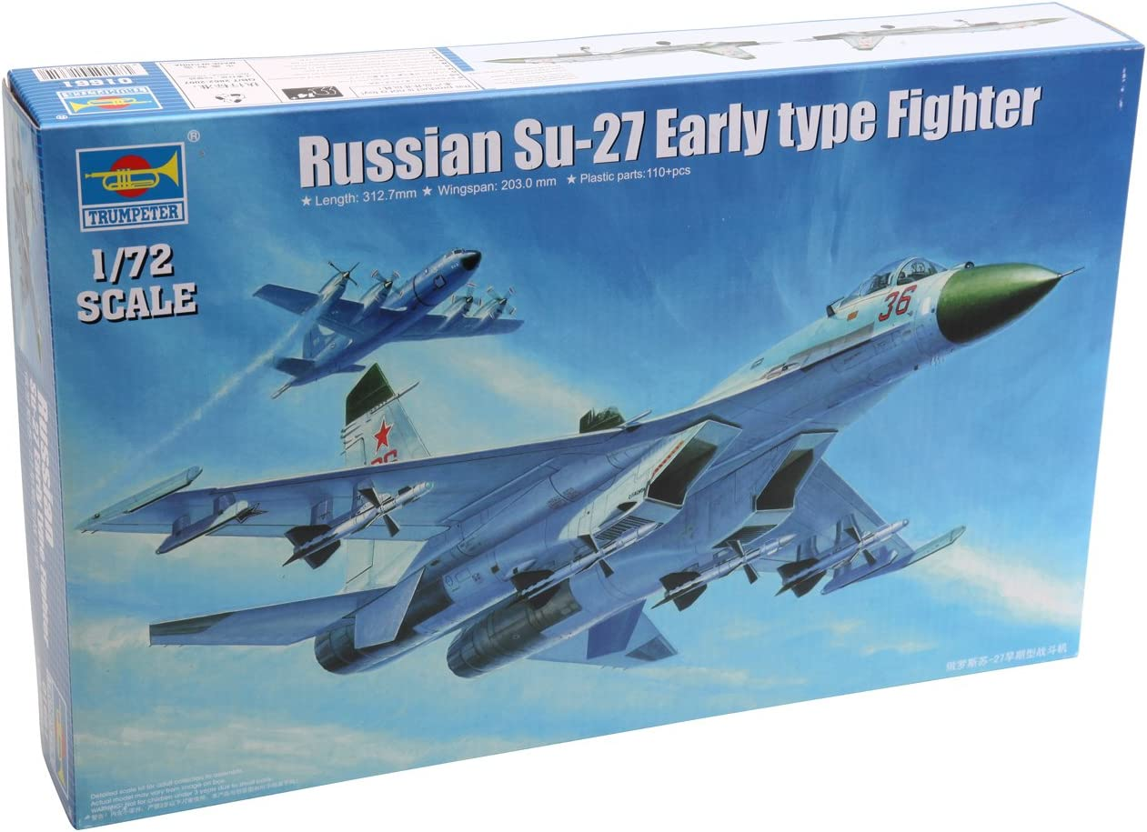 Trumpeter 01661 1//72 Russian Su-27 Early type Fighter