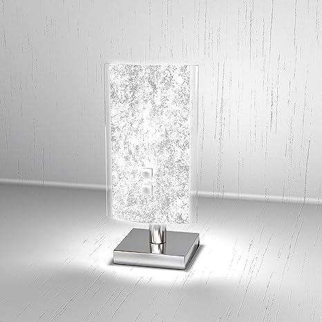 Lampada Da Tavolo Moderna Bricka Lumetto Diffusore In Vetro Satinato