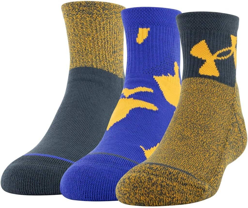 Under Armour Boy`s Phenom Quarter Socks 3 Pack