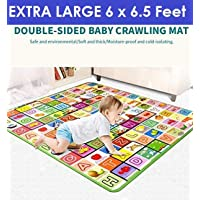 Opza Play mat Baby mats Waterproof Large Size Double Side Big Soft (6.5 Feet X 6 Feet) Crawl Floor Matt for Kids Picnic School Home with Zip Bag to Carry
