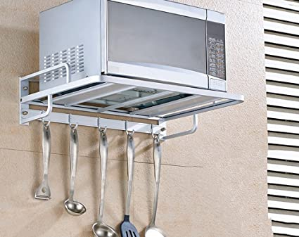 Supporto a muro per cucina a muro a muro a microonde per ambienti ...