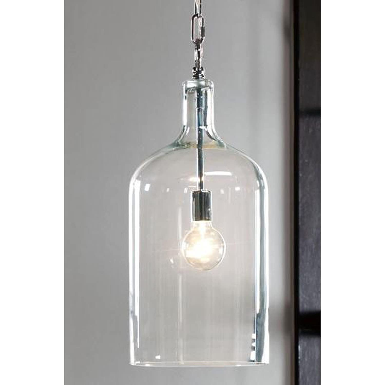 Kenroy home 91830clr capri 1 light pendant clear finish ceiling kenroy home 91830clr capri 1 light pendant clear finish ceiling pendant fixtures amazon aloadofball