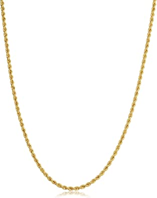 Kooljewelry 14k Yellow Gold Filled 4.2mm Rope Chain Necklace 16, 18, 20, 22, 24, 26, 30 or 36 inch