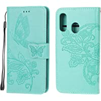 Jorisa Wallet Case Compatible with Samsung Galaxy A20/A30,Embossed Butterfly Flower PU Leather Flip Magnetic Purse Phone…