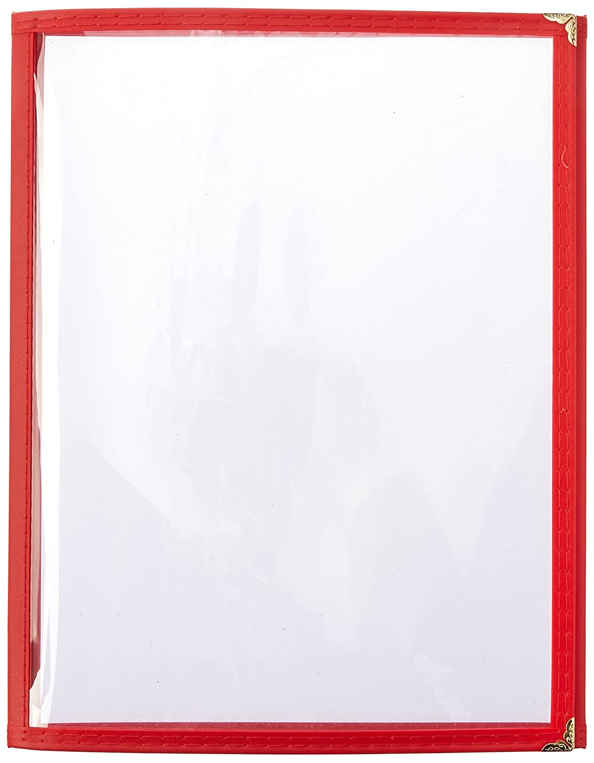 Red 12-Inch x 9.5-Inch Winco Double Fold Menu Cover