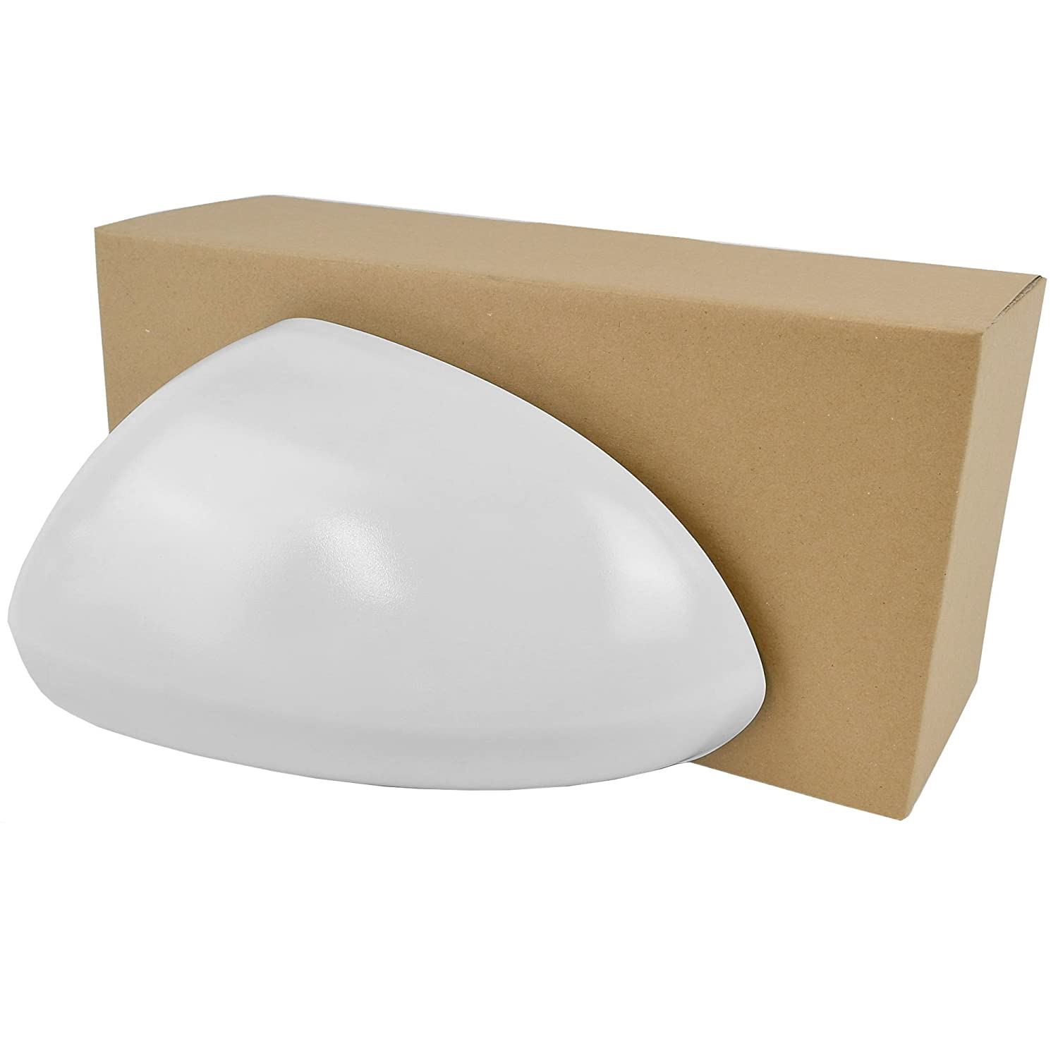 Less4Spares 128205 Left Side Wing Door Mirror Cover Primed Colour