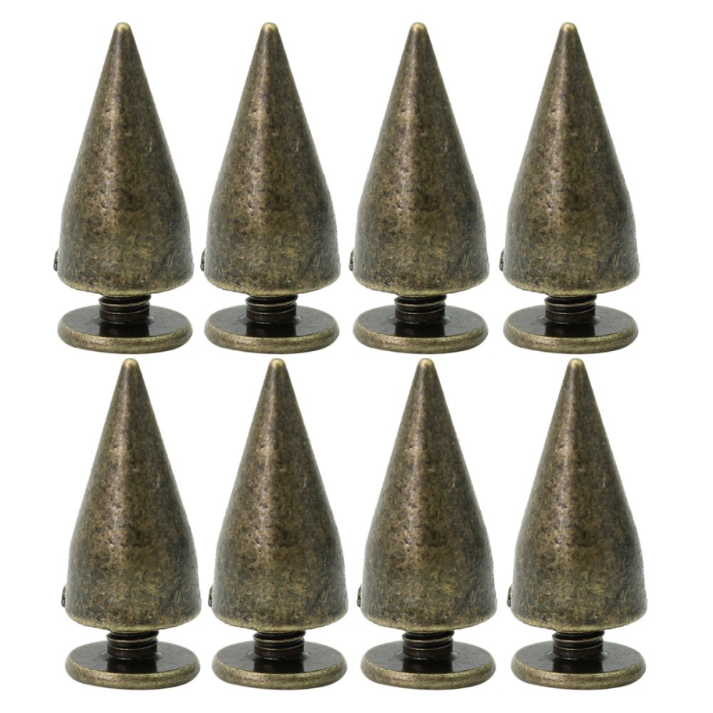 lecimo PL 100Pcs Vintage Bronze Bullet Rivets For Leather Bracelet Decor 14 Mm