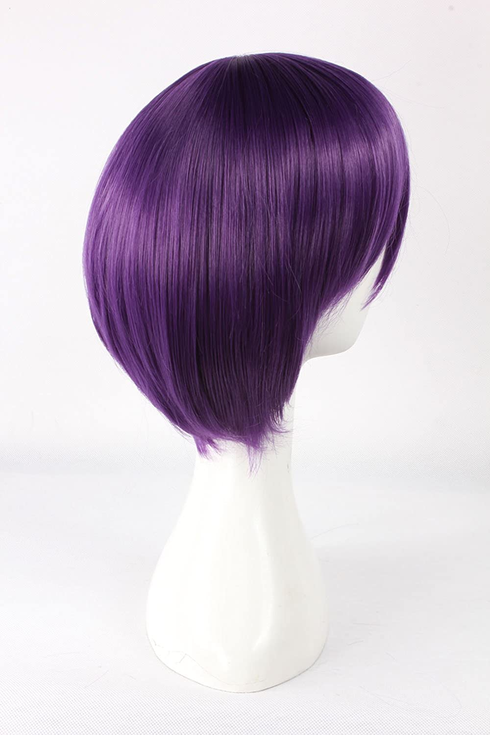 Amazon.com: Uuc Anime Noragami Yato Yaboku Cosplay Wig Gintama Takasugi Shinsuke Purple Short Straight Hair: Beauty