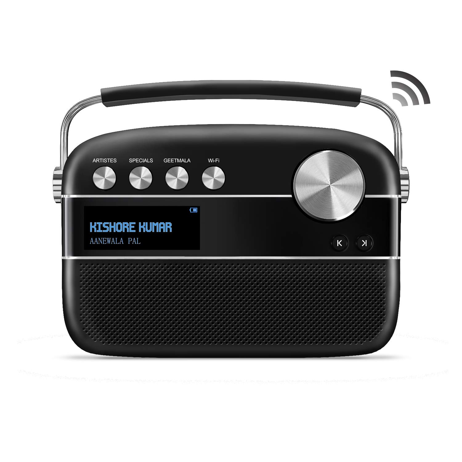 with WiFi, Black with 20,000 Songs Saregama Carvaan 2.0 Portable Digital Music Player
