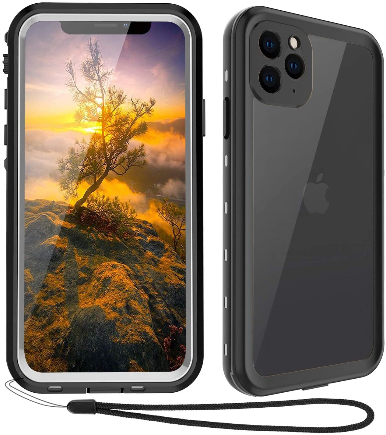 Waterproof iPhone 11 Pro Max Case - iPhone 11 Pro Max Full Body Bumper Case Waterproof Apple iPhone Rugged Protection Case with Built-in Screen ...