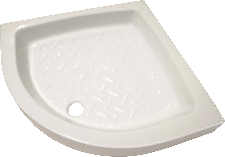 dessin antid/érapant Receveur de douche 80 x 80 semi-circulaire en c/éramique blanche /émaill/ée