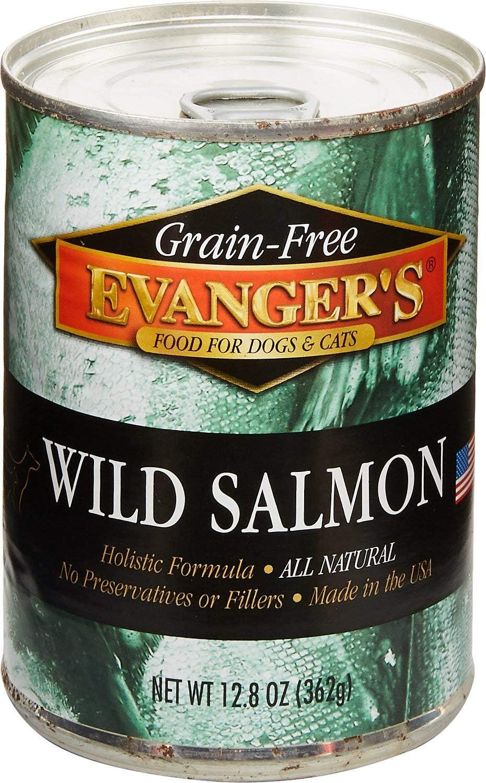 Evanger's Grain Free Wild Salmon - 12x13 oz