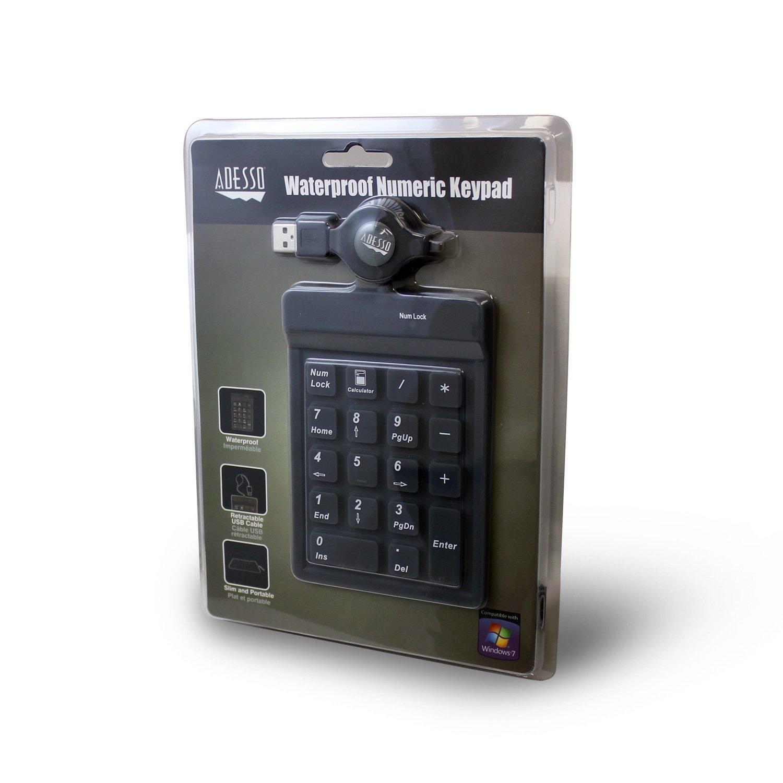 Adesso AKP-218-18 Key Waterproof USB Key Pad