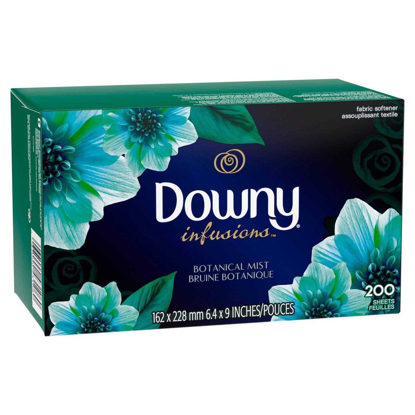 Downy Infusions Dryer Sheets, 200 Count, Botanical Mist