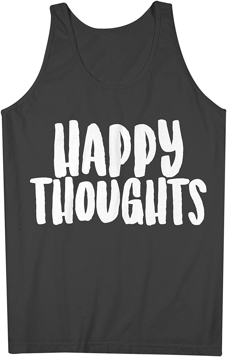 Happy Thoughts Positive Happy Mens Tank Top Sleeveless Shirt Black XX-Large