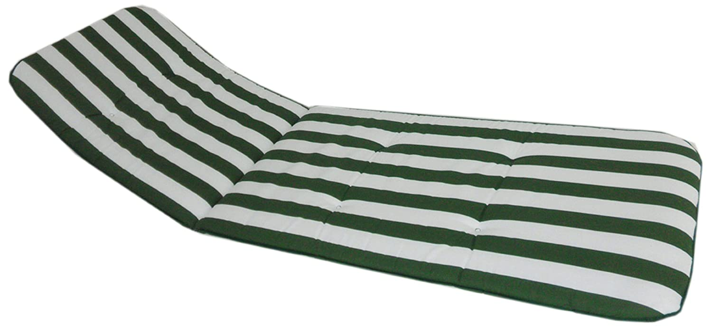 beo Sedia da giardino Cuscino - strisce bianche - Lunghezza totale 193 cm / / larghezza 60cm / / 5 cm di spessore BS10 Capri LI