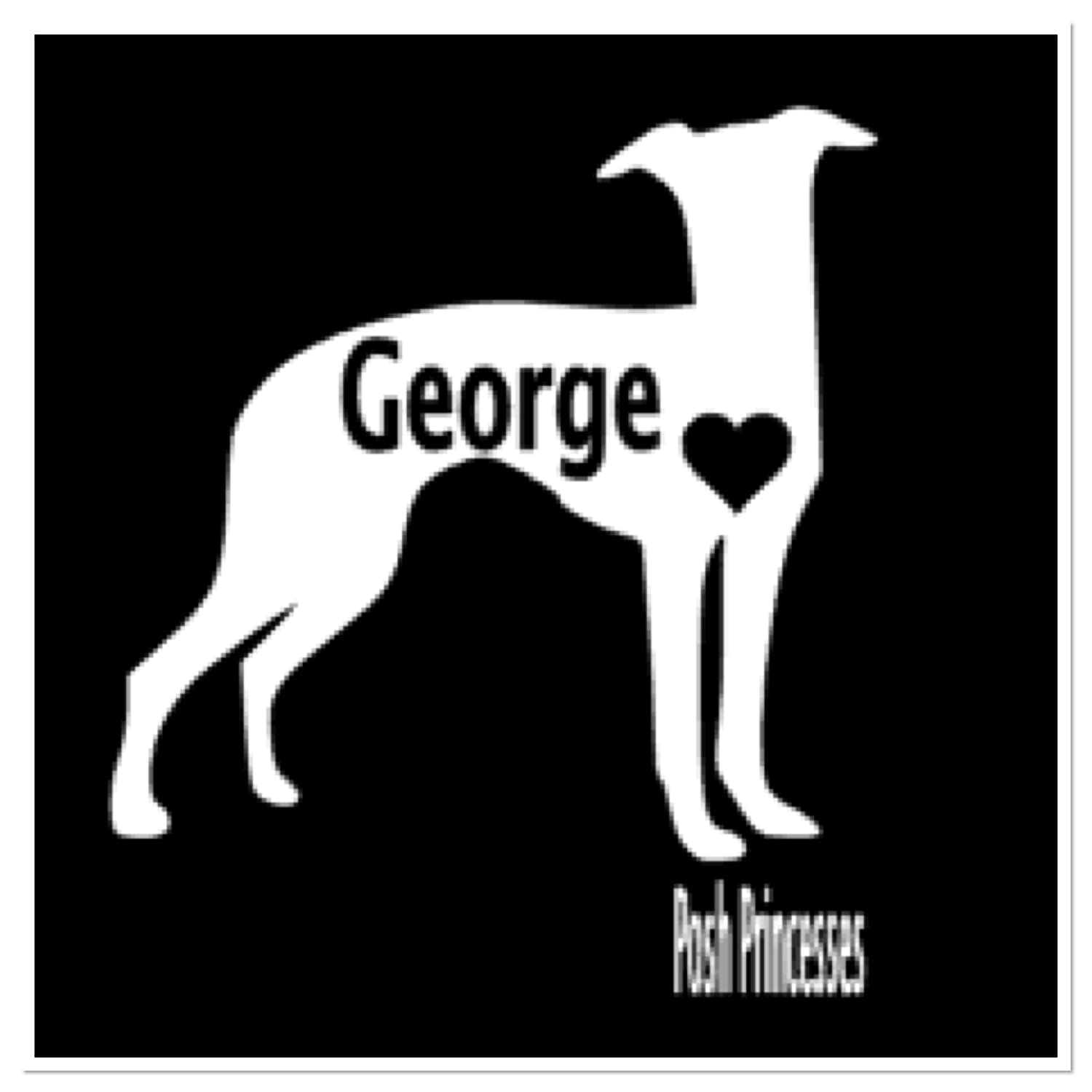 Amazon com greyhound personalized vinyl decal dog decal car window decal dog food container decal laptop sticker white 3 x 3 handmade