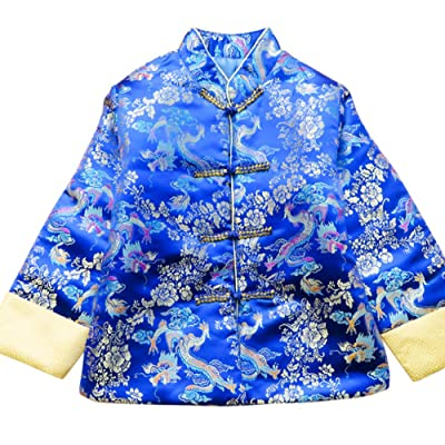 CRB Fashion Boys Chinese New Years Cheongsam Clothes Asian Jacket Top Coat