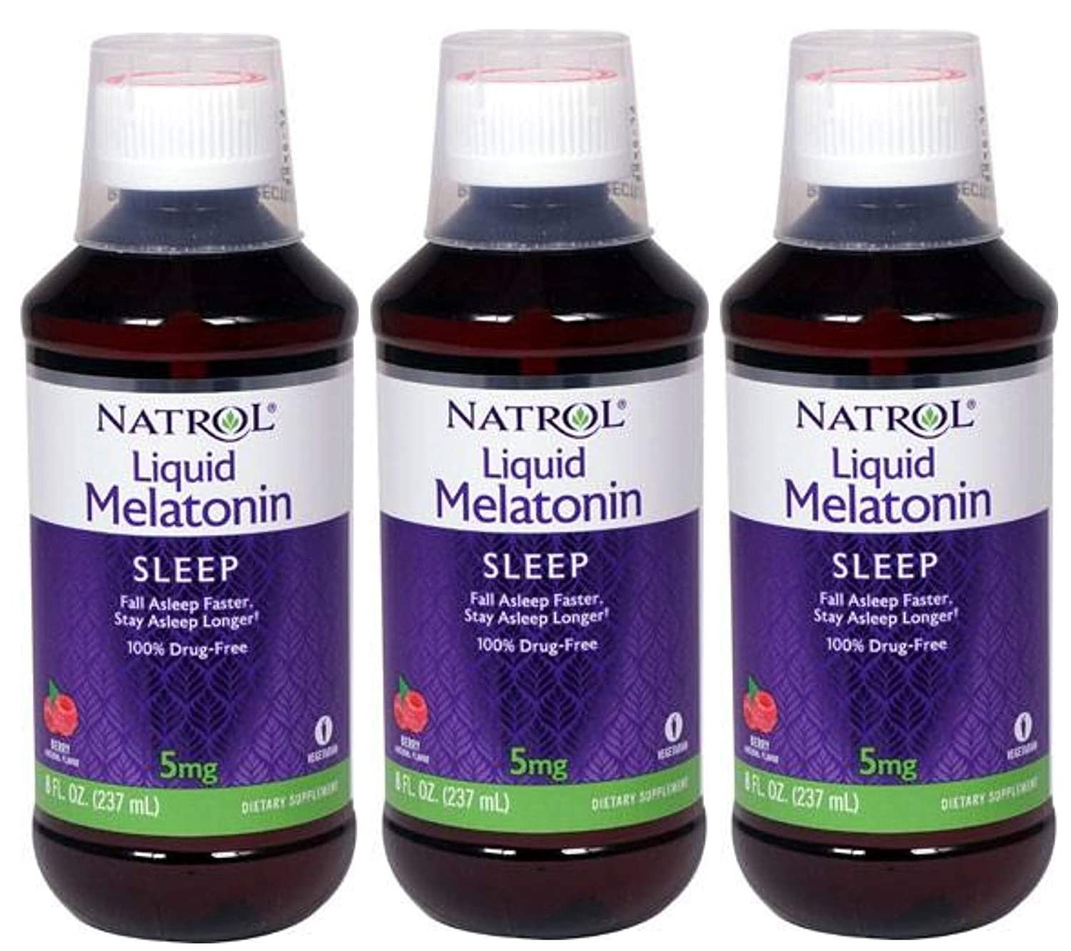 Amazon.com: Natrol Melatonin Sleep Liquid, 5 Mg, 8 Fluid Ounce (3 Pack): Health & Personal Care