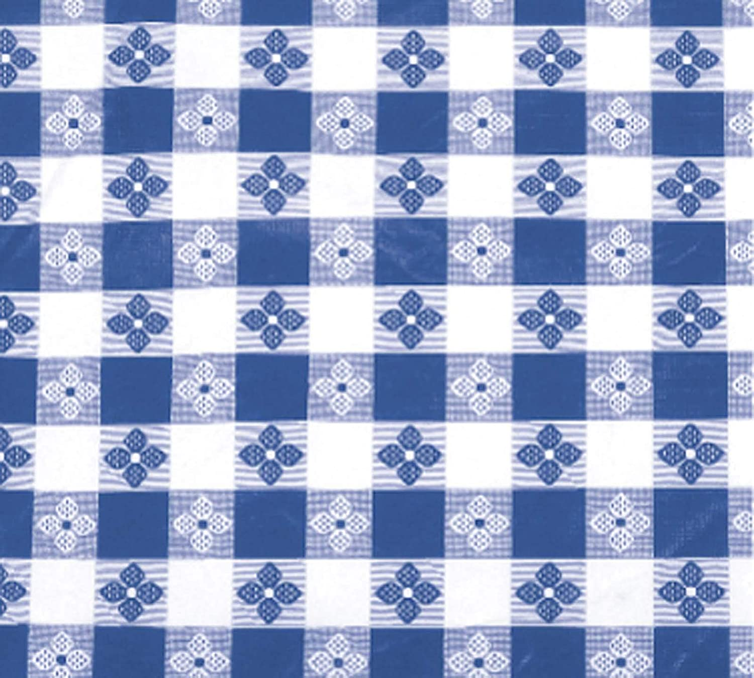 Winco TBCO-70B Checkered Table Cloth, 52-Inch x 70-Inch, Blue