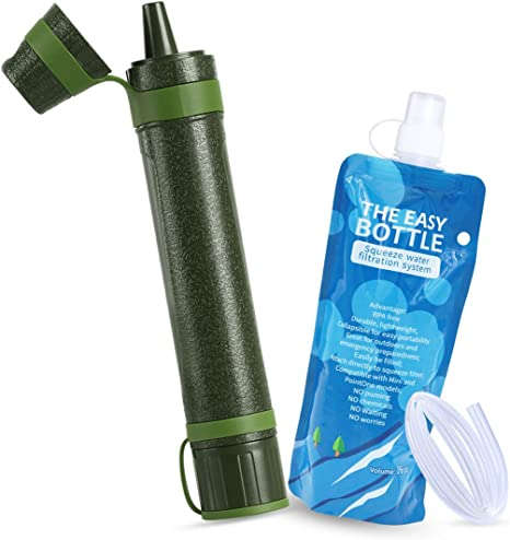 Axmda Mini Filtro de Agua, Portátil Paja de Filtro para Camping ...