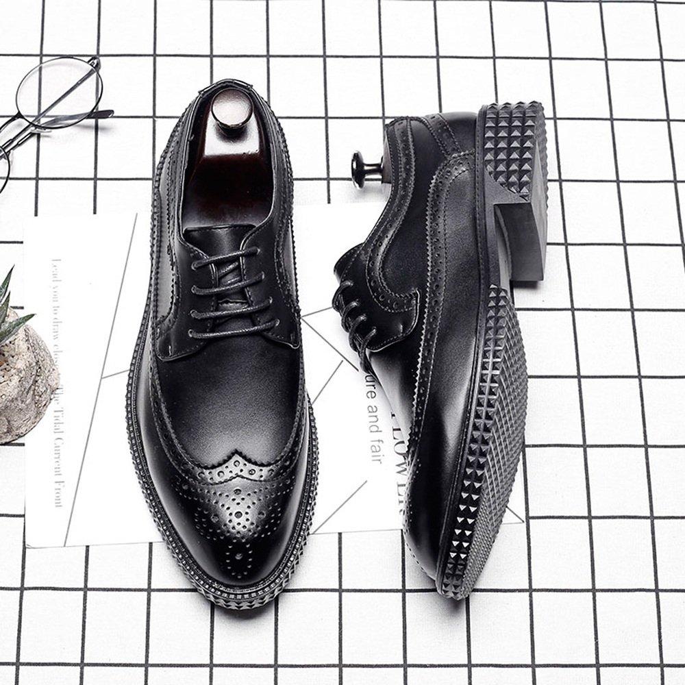 Lederschuhe Geschäfts-Brogue-Schuhe Sich der Männer PU schnüren Sich Geschäfts-Brogue-Schuhe Oben Wingtip Dekoration-Starke Aussensohle Oxfords schwarz a74127