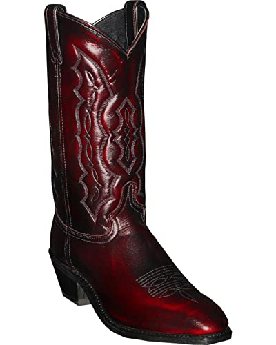 ff44e368012 Abilene Men's Cherry Dress Cowboy Boot Square Toe