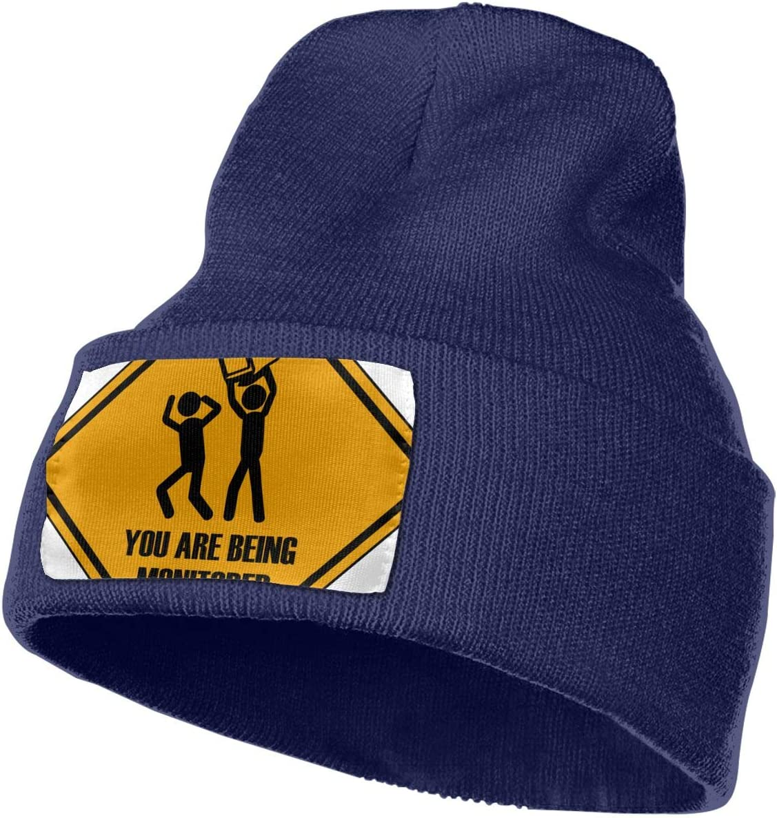 Thick MACA You are Being Monitored Unisex Slouch Beanie Hats Warm /& Stylish Winter Hats Black