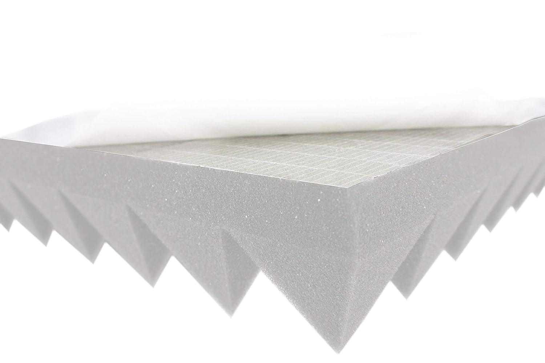Pyramiden Schaumstoff SELBSTKLEBEND TYP 50x50x6 Akustik Schall Schutz Dämmung
