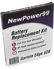 Kit di Ricambio di Batteria per Garmin Edge 520 con video di installazione DVD, installazione strumenti, e batteria a lunga durata