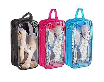 8de0b3caa6b1 Kurtzy Portable Shoe Storage Bag Footwear Organizer Travel Cover Pouch  (3Pcs Blue, Black and Pink)