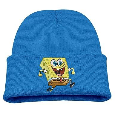 915416603c1f2 Sponge Bob Cartoon Warm Winter Hat Knit Beanie Skull Cap Cuff Beanie Hat  Winter Hats Girls