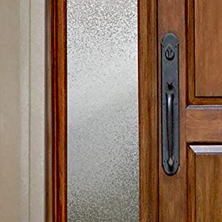 """product image for Gila 50146414 Decorative Privacy Ice Chips Film-12 x6.5' Sidelight Window Film, 12"""" x 6.5'"""