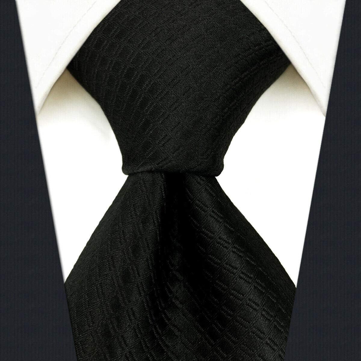 Shlax/&Wing Tinta Unita Nero Cravatta da uomo Narrow 6cm Magra Classic