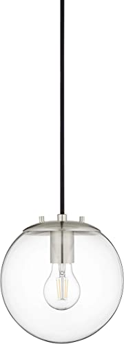 Sferra Globe Pendant Light Brushed Nickel Pendant Lighting for Kitchen Island with LED Bulb LL-P201-BN