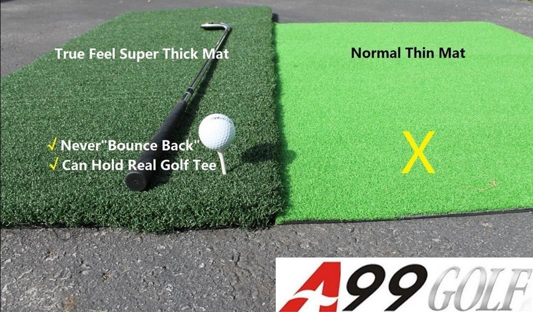 Golf Range True Feel Super Thick mat Golf Chipping Driving Practice Mat 59 x 39 1/2 x1 1/4'' by A99 Golf (Image #3)