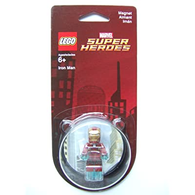 LEGO MARVEL SUPER HEROS IRON MAN MAGNET: Toys & Games