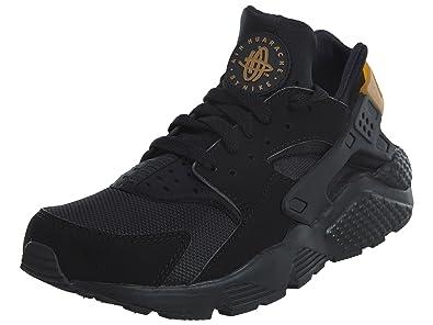 buy online 5be16 bd6f9 Amazon.com | Nike Mens Air Huarache Black/Metallic Gold ...