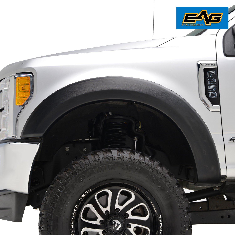 Eag 17 18 Ford Super Duty F250 F350 Fender Flares 89 F 250 Fuel Filter Textured Satin Black 4pcs Automotive