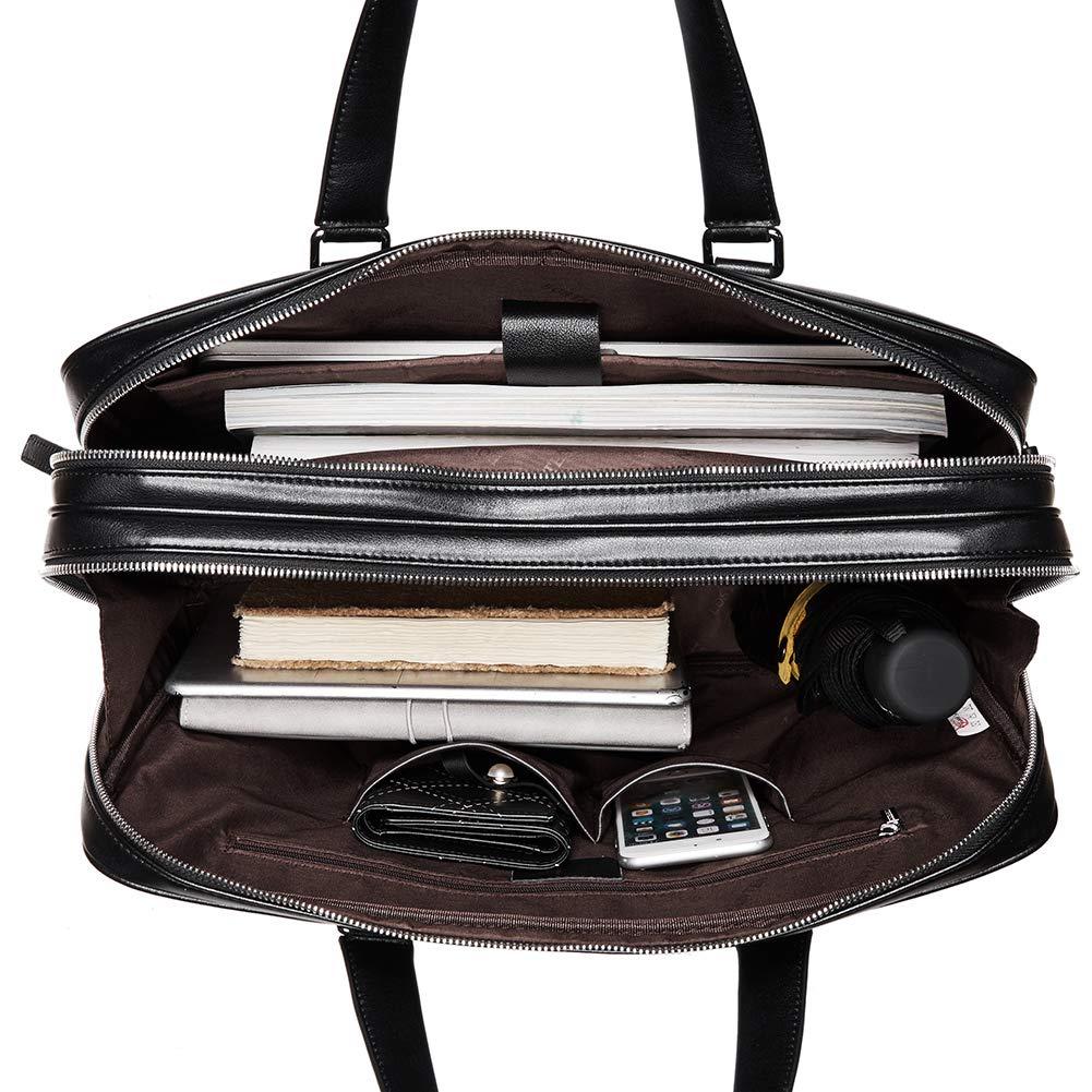 BOSTANTEN Sac Serviette Cuir Homme de Business de Bandouli/ère de Porte-Document Ordinateur Portable 15 Pouces