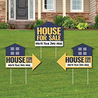 product image for House for Sale Sign - Yard Sign with Stakes - Double Sided Outdoor Lawn Sign - Set of 3