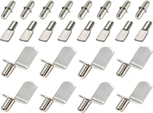 AxeSickle 60 pcs Shelf Bracket Pegs Stainless Steel Shelf Pins Support Shelf Peg Pin Supports, 3 Styles Nickel Plated.