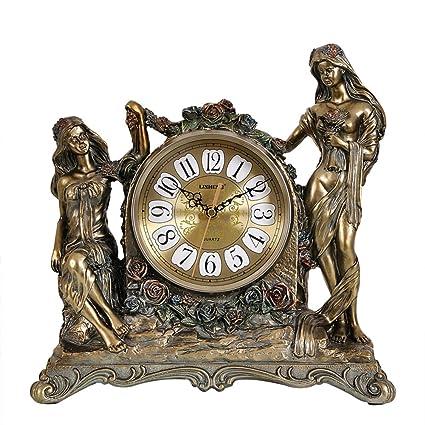 relojes antiguos de América reloj Sala de ideas decoración de ornamentos reloj silenciosa europea clásica reloj