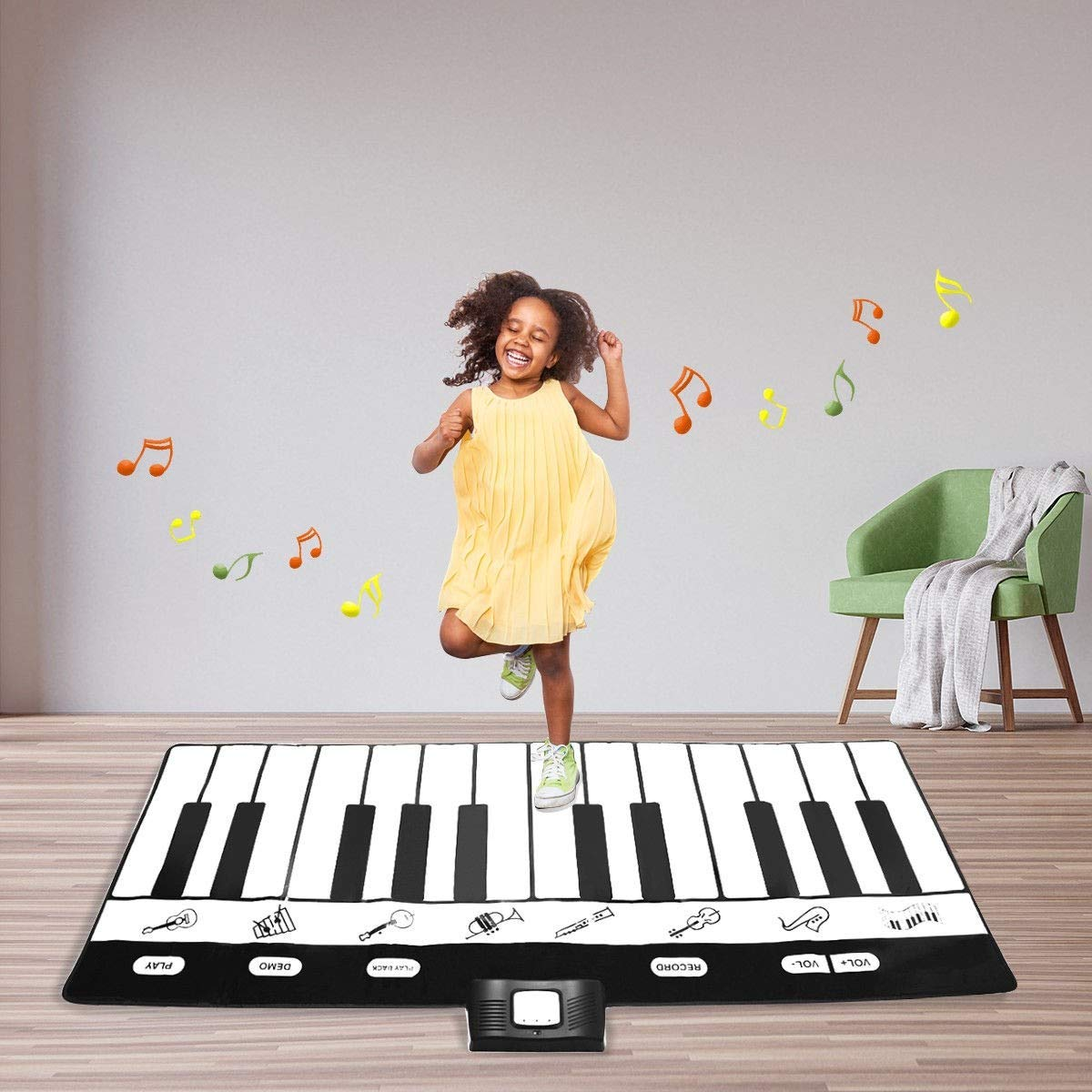 Dayanaprincess New Kids 24 Key Gigantic Piano Keyboard with 8 Instrument Settings Learning Children Play Set Fun Entertaining Book Melody by Dayanaprincess (Image #3)